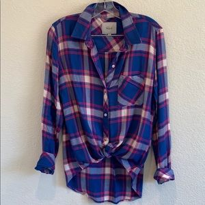 Rails blue pink plaid NWOT button up flannel